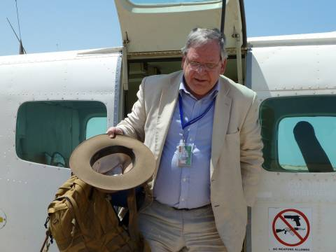 Bowden Arriving in Bosaso