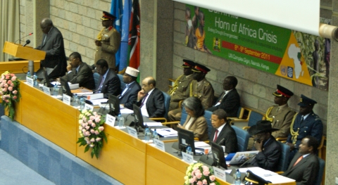 President Mwai Kibaki of Kenya Opening the Summit of the Head of States