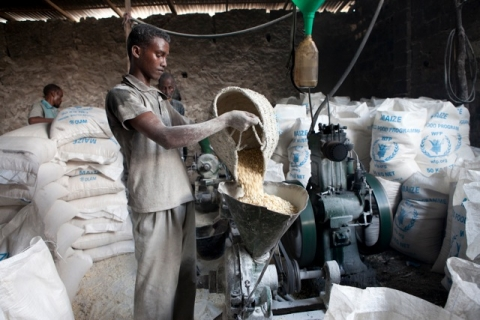 Grinding Maize at SAACID Milling Facility