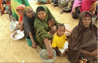 Women and Children at a feeding Center in Mogadishu