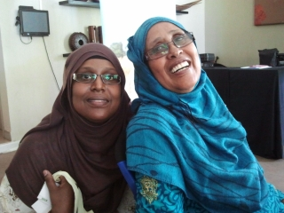 Degan Ali and Fatima Jibrell of ADESO, formerly Horn Relief