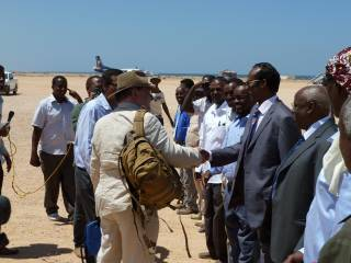 Bowden Greeting Puntland Officials