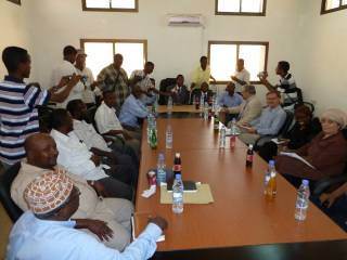 UN Delegation and Puntland Ministers